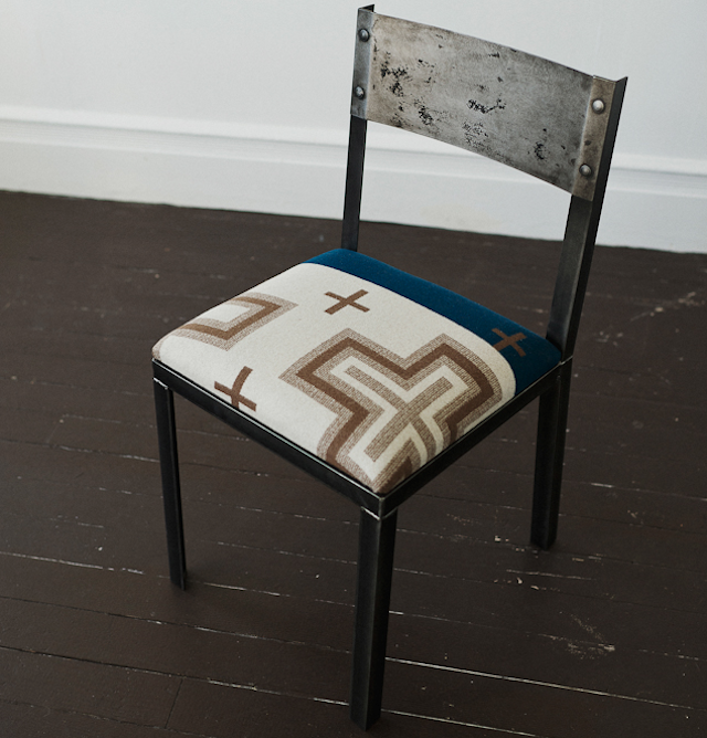 Delightful Above: The Dining Chair, In A Different Choice Of Pendleton Wool  Upholstery. Image Via Brackish Designs.