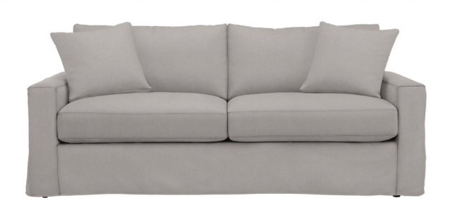 Above Add A Bemz Belgian Linen Blend Slipcover 519 To The Ikea Stockholm 3 1 2 Seat Sofa 999 Total Comes 518