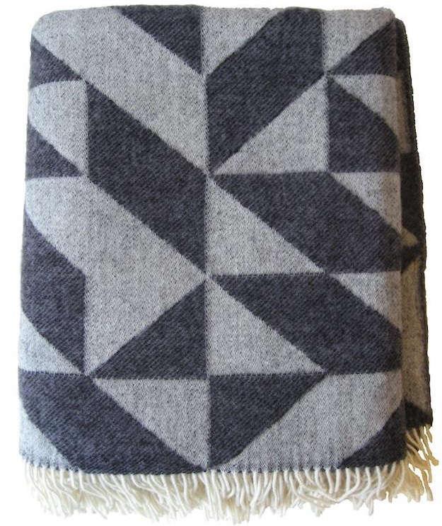 scandinavian graphic blankets remodelista