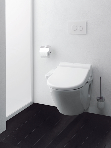 above toto toilets get top marks for performance quality and innovation the entrylevel washlet c110 shown atop a toto - Toto Bidet