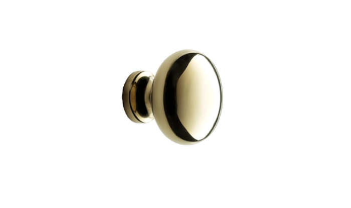Above: The Plain Round Cabinet Knob Is Made Of Hand Polished, Unlacquered  Brass; $10 Each From Rejuvenation.