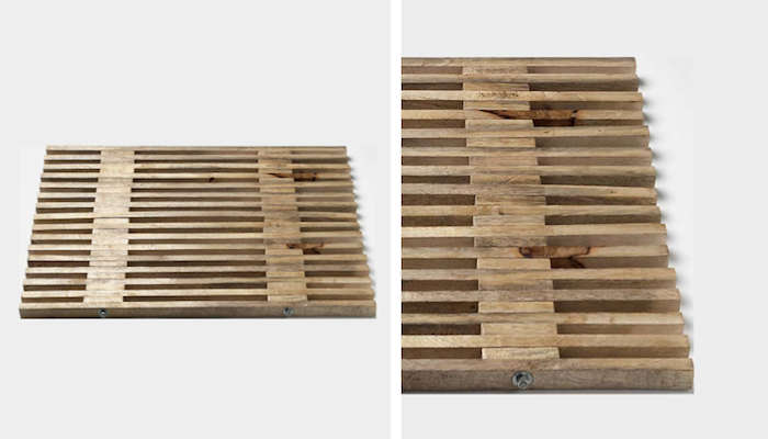 Above: The Mango Wood Bath Mat Is A Slatted Mat Measuring 27 Inches Long By  18 Inches Wide; £42 From Toast In The UK.
