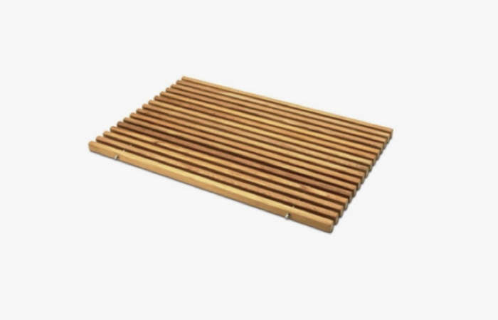 10 Easy Pieces Wooden Bath Mats Remodelista