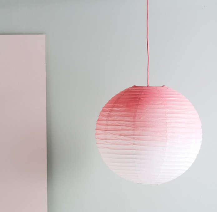 DIY: Ombre Pink Paper Lamp Shade