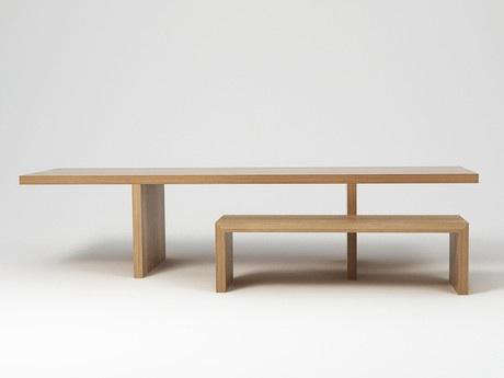 Cellini Hope Dining Table And Bench Designed By Italian Architect Claudio Silvestrin The 124 Inch Long 62