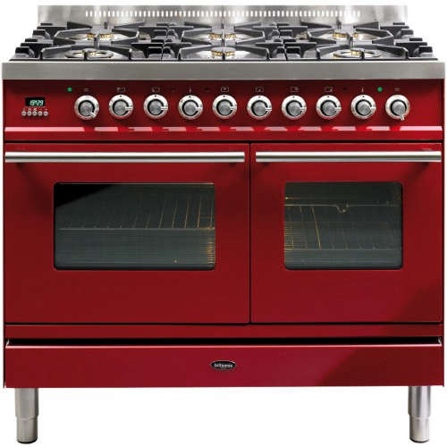 Above The Britannia Dual Fuel Range Cooker In Velvet Red Is 3 799 From John Lewis