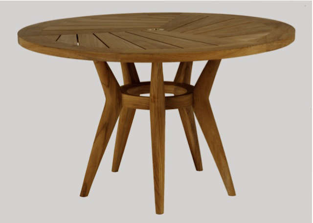 round wood outdoor table. Contemporary Wood Above The Leagrave Round Dining Table In Teak Is 1245 At Restoration  Hardware Throughout Wood Outdoor