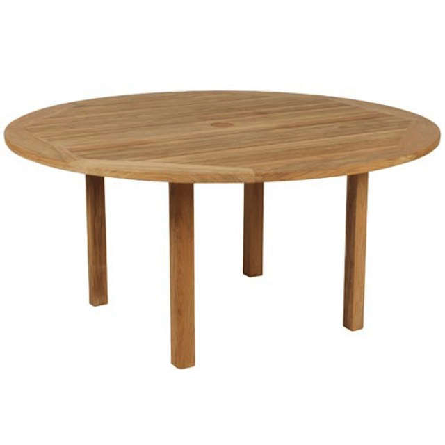 10 Easy Pieces Round Wood Outdoor Tables