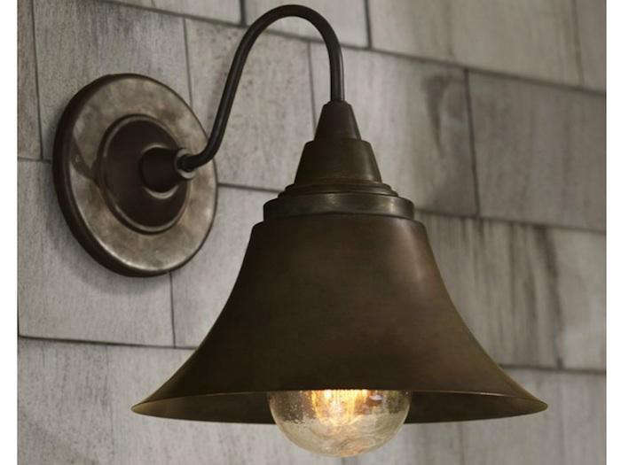 10 easy pieces barnhouse style outdoor lighting remodelista above gooseneck barn lamp in silver red or black 315 at design within reach workwithnaturefo