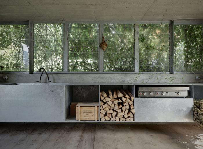 An Unused Garage Becomes An Indoor/outdoor Kitchen With Galvanized Steel  Workspaces. See Paradise