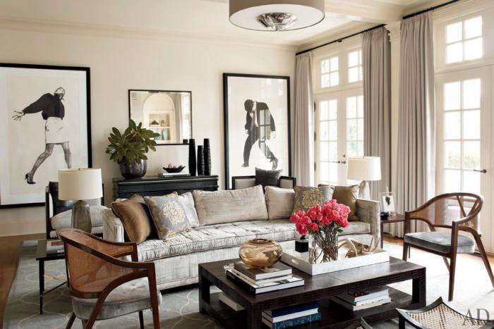 Nice Above: A Rug From Mansour In The Living Room In Tin A North Carolina Home  By Architect Russell Groves Shown In Architectural Digest.