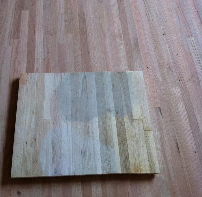 Above: The floor contractor patiently bleached a series of sample red oak  floor boards to see what the floor would look like with three different  stains: ... - Scandi Whitewashed Floors: Before And After - Remodelista