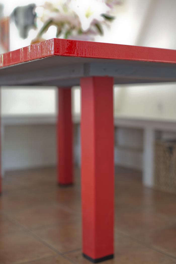 DIY: A Red Lacquer Table For Under $500