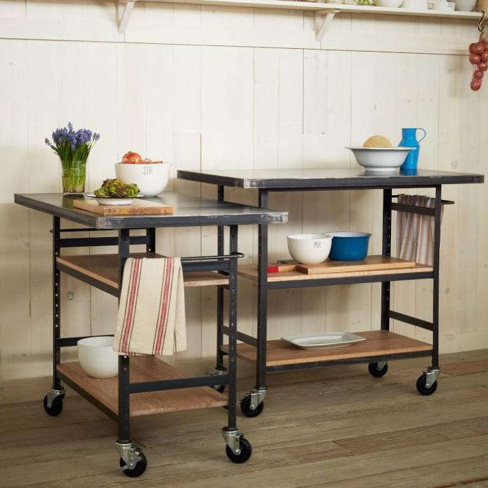 Prime Counter Chic Industrial Work Bench On Wheels Remodelista Gmtry Best Dining Table And Chair Ideas Images Gmtryco