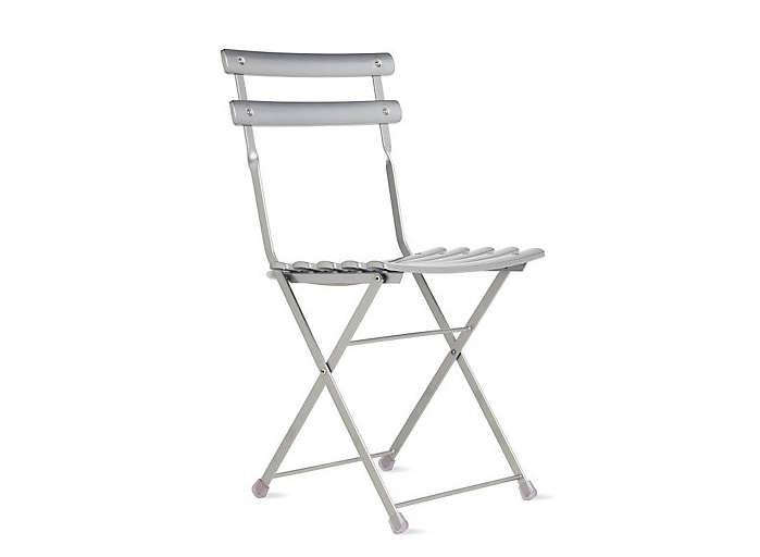 Above: With A Durable Steel Frame And Backed On Weather Resistant Powder  Coated Finish, A Silver Arc En Ciel Folding Chair Weighs About 10 Pounds  And Is ...