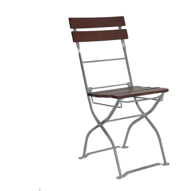 Above With A Galvanized Steel Frame And Seat Backrest Made Of Ash Wood Folding Bayern Chair Is 94 12 From Elefant