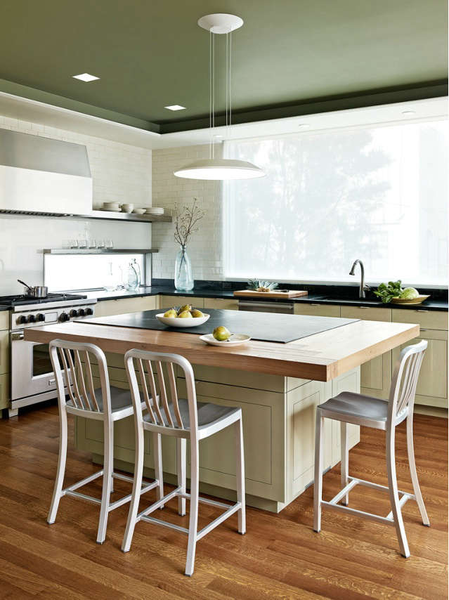 Above: A Soapstone Island Surrounded By A Wood Counter In This Updated  Kitchen Of A Pre War House In San Francisco. Buttrick Notes, U201cItu0027s Nice To  Have A ...