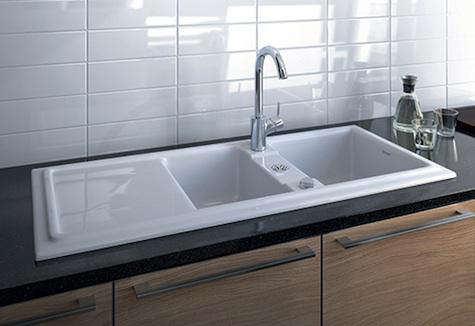 Fixtures fittings cassia kitchen sink from duravit for Fregaderos ceramica rusticos
