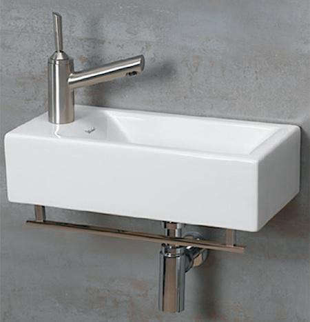 Delicieux Above: The Whitehaus Wall Mounted Basin Measures Approximately 20 By 10 By  5 Inches And Is Available With A Chrome Towel Bar; $258.75 At EFaucets.