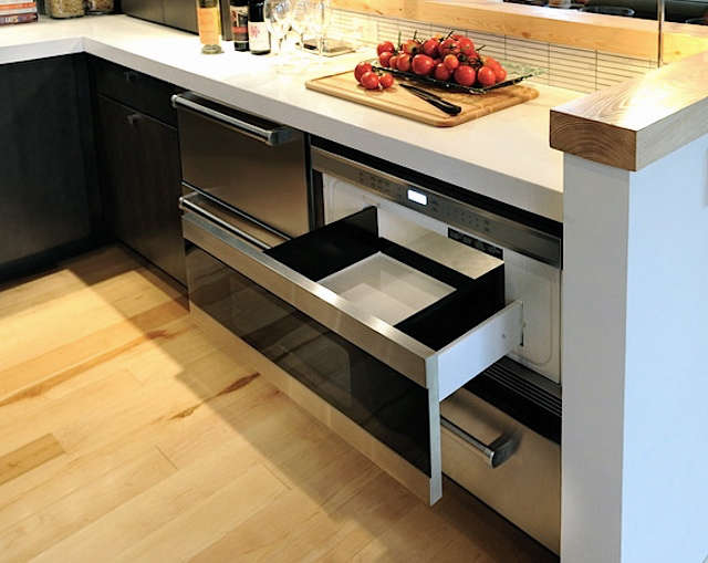 Above The Wolf Stainless Steel  Inch Drawer Microwave Oven Mwd Can Be Installed In A Standard Or Flush Mount To Match Your Cabinet Style