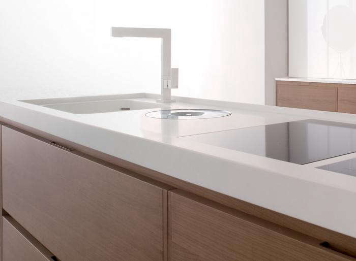 Above: Corian Is A Solid Surface Countertop Made From A Durable Nonporous  Acrylic Polymer That Comes In Over 130 Colors. It Can Also Be Used For  Cabinet ...