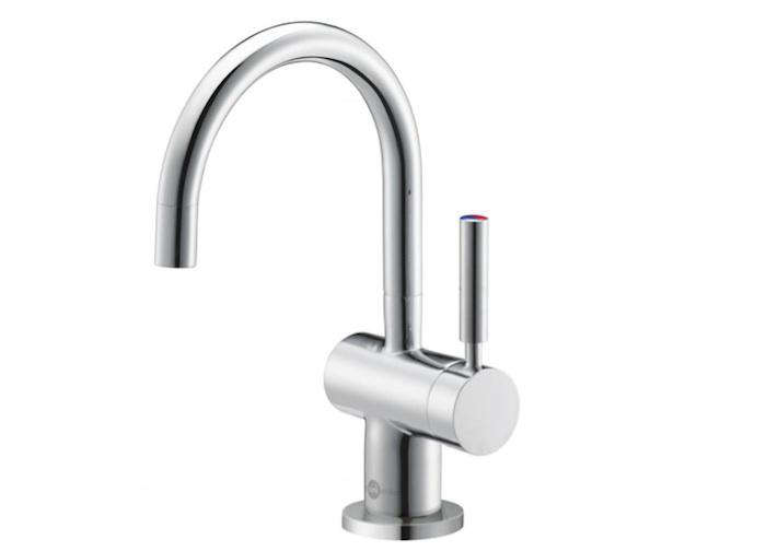 ... Above In Chrome (itu0027s Also Available In Satin Nickel), Is Equipped With  A Dual Temperature Handle That Delivers Either Cool Or Hot Water In Seconds.