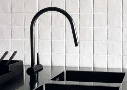 HighLow Black Kitchen Faucet Remodelista - Black faucet for kitchen