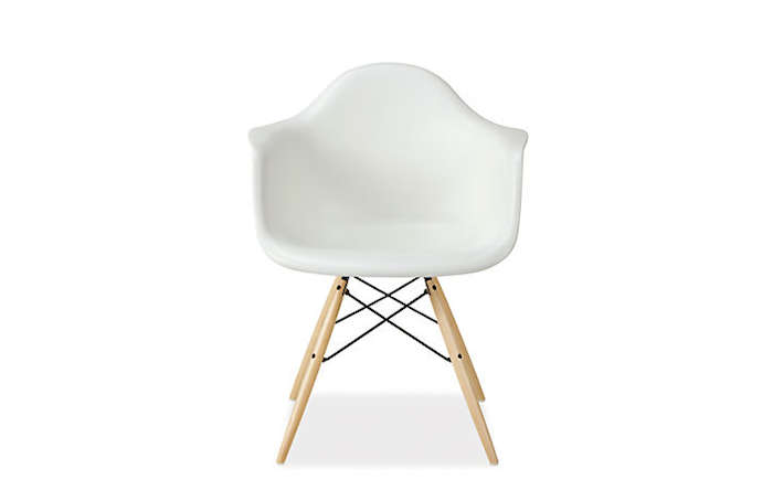 Above The White Molded Plastic Dowel Eames Chair Is 539 From Design Within Reach