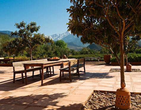 Hotels Lodging Kasbah Bab Ourika In Morocco Remodelista - Outdoor communal table