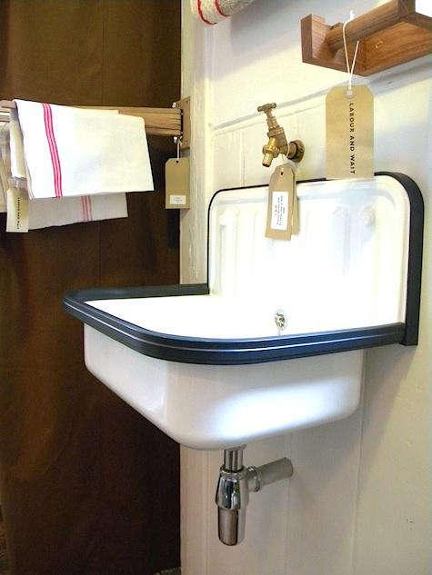 Beau Above: Labour U0026 Waitu0027s Enameled Bucket Sink Features A Dark Gray PVC Rim  And Is £140.