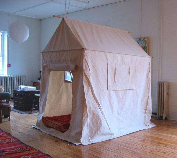 Charmant Above: The Tent Was Designed And Fabricated By Sally Scott. It Has Two  Structural Members; A Wooden Rod Threaded Through The Top Creates The Roof  Pitch And ...