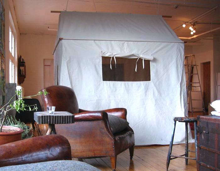 ... Her Brother That Year Was A Custom Made Canvas Tent; Big Enough To  Accommodate A Camp Bed, A Side Table, And A Chair. Voilàu2014an Instant Guest  Bedroom.