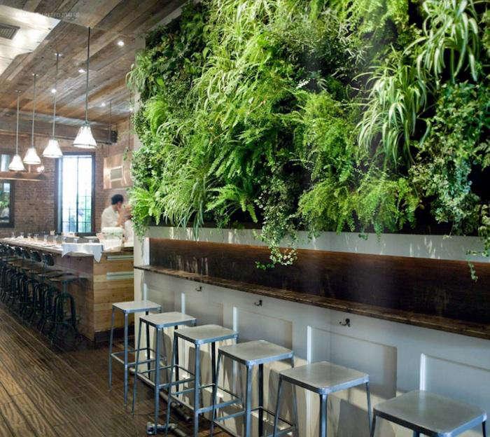 A Green Wall Grows in Brooklyn: Colonie Restaurant - Remodelista