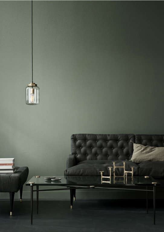 Above: The Canvas/Jason Wu Glass Pendant Is Made Of Hand Blown Glass With A  Brass Canopy And Fittings; $620.