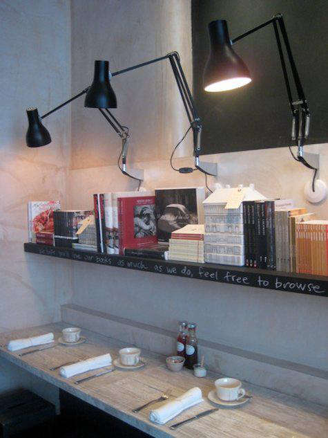 Above Wall Mounted Anglepoise Lamps Set The Tone For Book Reading Area