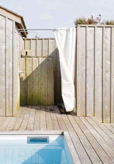 Awesome Bath: Outdoor Sunbrella Shower Curtains Regarding Outdoor Shower Curtain