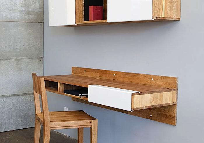 Kitchen Wall Table 5 favorites wall mounted space saving furniture remodelista above a longtime favorite the lax series wall mounted desk from mash studios is made in california of english walnut with a natural oil finish workwithnaturefo