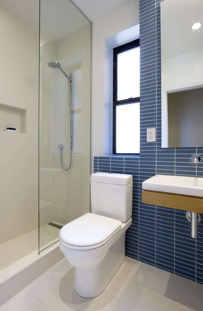 The Architect Is In Affordable Instant Bathrooms By Uniform Design Unique Blue Bathroom Designs Minimalist