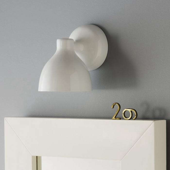 High Low White Wall Sconce