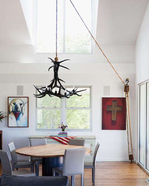Lighting chandelier rope pulley remodelista lighting chandelier rope pulley aloadofball Image collections