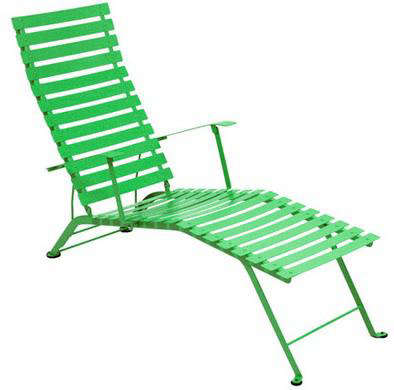 Above The Fermob Bistro Chaise In Grass Green