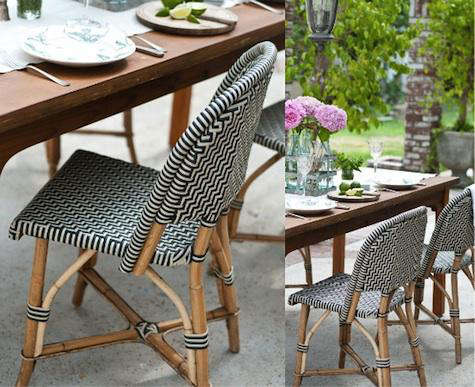 Design Sleuth  Classic French Rattan Bistro Chairs. Design Sleuth  Classic French Rattan Bistro Chairs   Remodelista