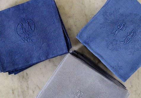 Tabletop Vintage French Linen Napkins Remodelista