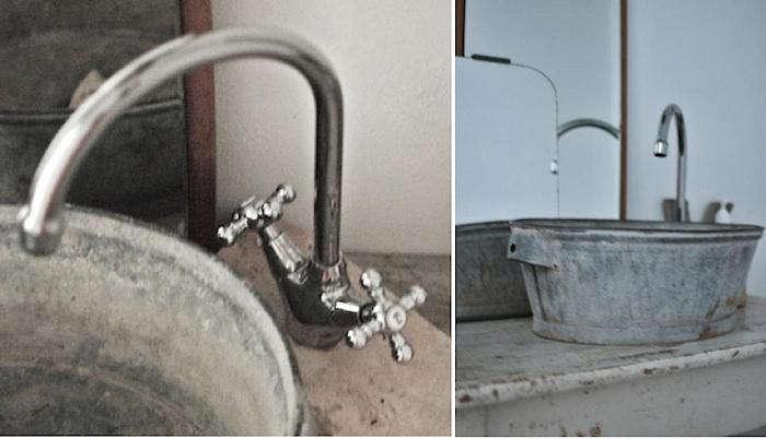 DIY Galvanized Bucket As Bathroom Sink