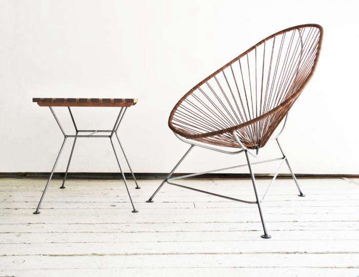 Above: The Acapulco Chair In Leather Is $499 From Greenpoint Works.