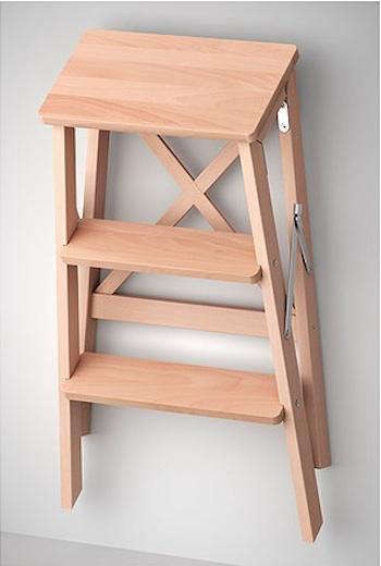 New At Ikea The Solid Wood Bekvam Step Ladder 39 99 A More Refined Version Of Traditional With Hanging And Stowing Capabilities