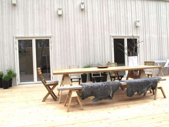 Steal This Look Diy Scandinavian Outdoor Dining E Remodelista