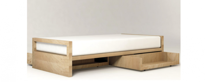 modern twin bed. Above: Designed By A Toronto Architect, The Pluunk Twin Bed With Maple  Finish Is Custom Order Drawers Sold Separately; $1,900 From Inquisitive Modern Twin Bed T