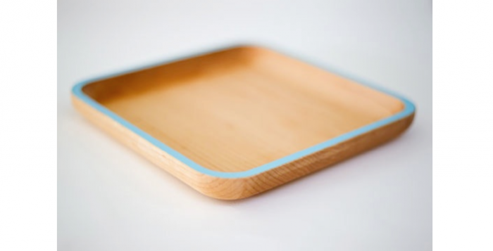 Above Cafe plate in walnut with pale blue rim; $48.  sc 1 st  Remodelista & Wood Plates with Child Appeal - Remodelista