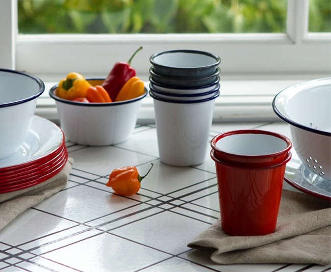 Classic Enamelware For Outdoor Dining